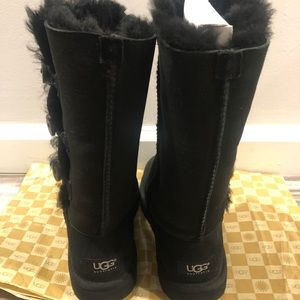 UGG Bailey Button Triplet Tall Black Boots